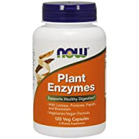 NOW Supplements, Plant Enzymes with Lactase, Protease, Papain and Bromelain, 120...