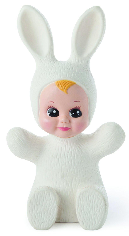 Goodnight Lamp Bunny Baby Puppe Lichterkette, Fiberglas, Weiß, 16 x 11 x 28 cm