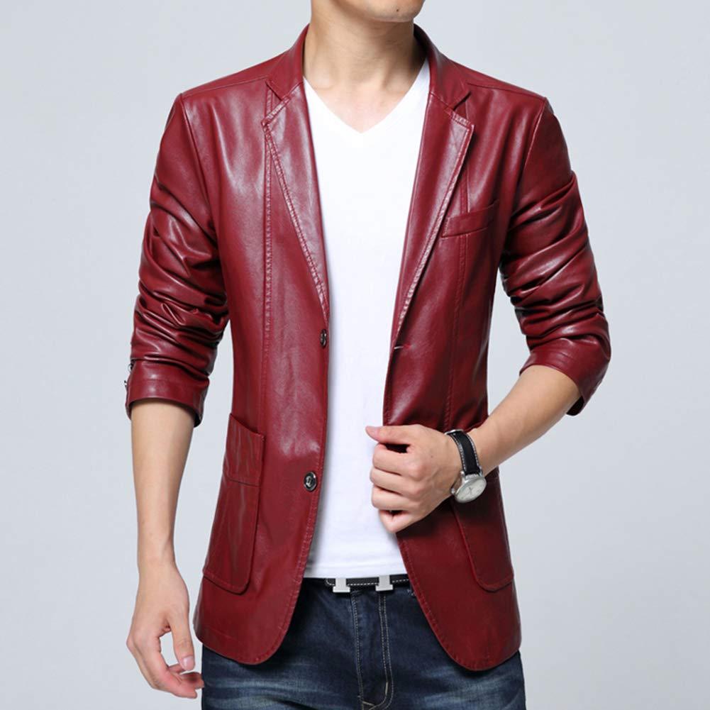 LaoZanA Herren Jacke Freizeit PU Leder Kunstleder Übergangsjacke Slim Slim Slim Fit Mantel B07L2QLC21 Jacken Online-Exportgeschäft 6f78d5