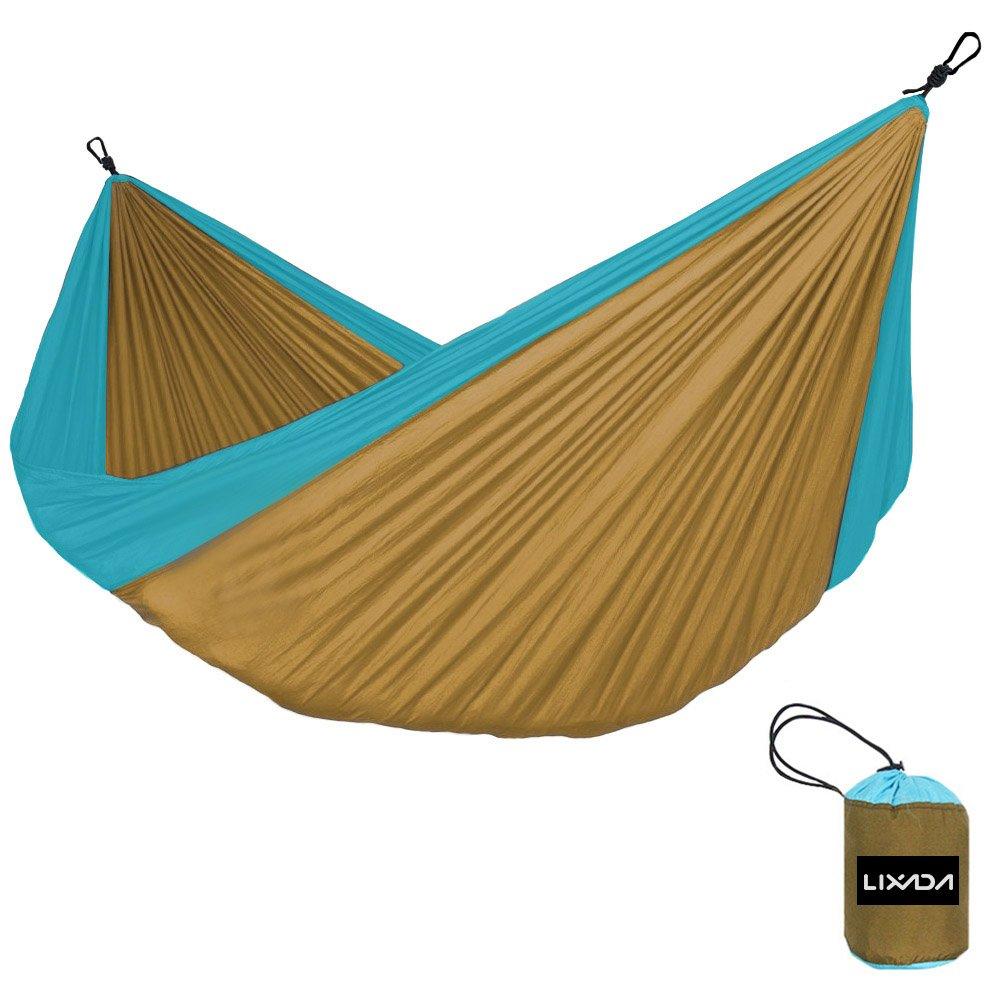 Vdk braun + blau Outdoor Hängematte 2 Personen Garten Camping Möbel Kugellager 200 kg Hängematte Travel Kits Hangmat 280  150 cm