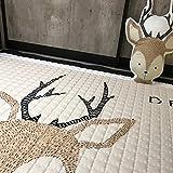IHEARTYOU Baby Crawling Mat Cute Deer Play Carpet