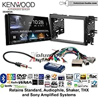 Volunteer Audio Kenwood DDX9904S Double Din Radio Install Kit with Apple CarPlay Android Auto Bluetooth Fits 2007-2010 Edge (With factory amplified sound)