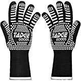Oven Mitts Heat Resistant BBQ Gloves – Best Silicone Cooking & Grilling Accessories – Extreme Hot 932 Degrees Hand & Forearm Protection, White