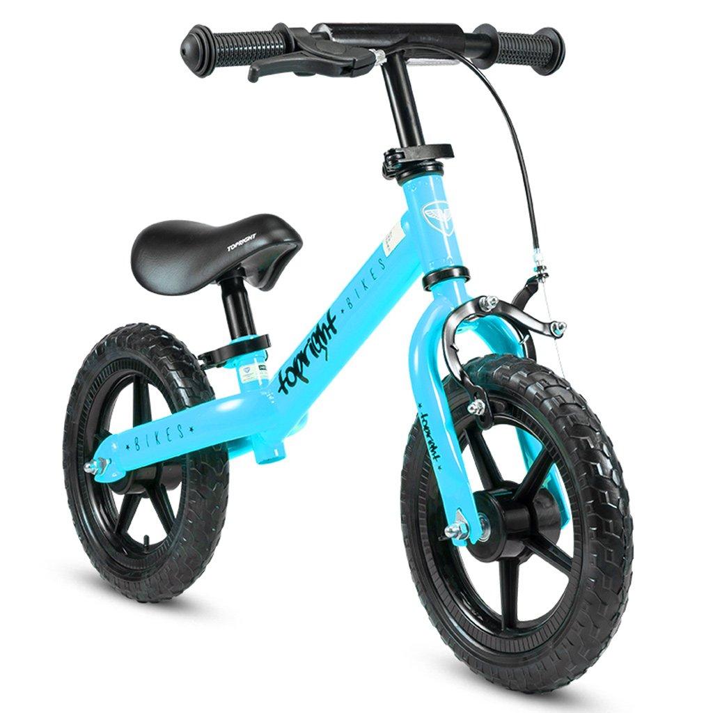Xiaoping La Bicicleta autoequilibrada para Niños y Niñas sin Pedales es Perfecta para Entrenar a su Niño DE 24 Meses - Bicicletas Clásicas para Entrenamiento de Equilibrio (Color : Blue)