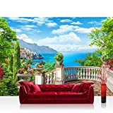 "Photo wallpaper - Nature View Terace - 137.8""W by 96.5""H (350x245cm) - Non-woven PREMIUM PLUS - no. 227 - Wall Decor Photo Wall Mural Door Wall Paper Posters & Prints"
