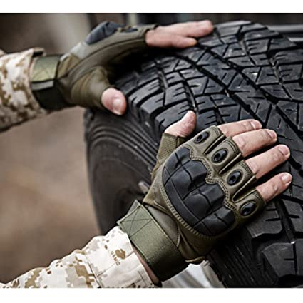motorcycle shooting k  Amazon.com : K-mover Gear Military Fingerless Hard Knuckle Tactical ...