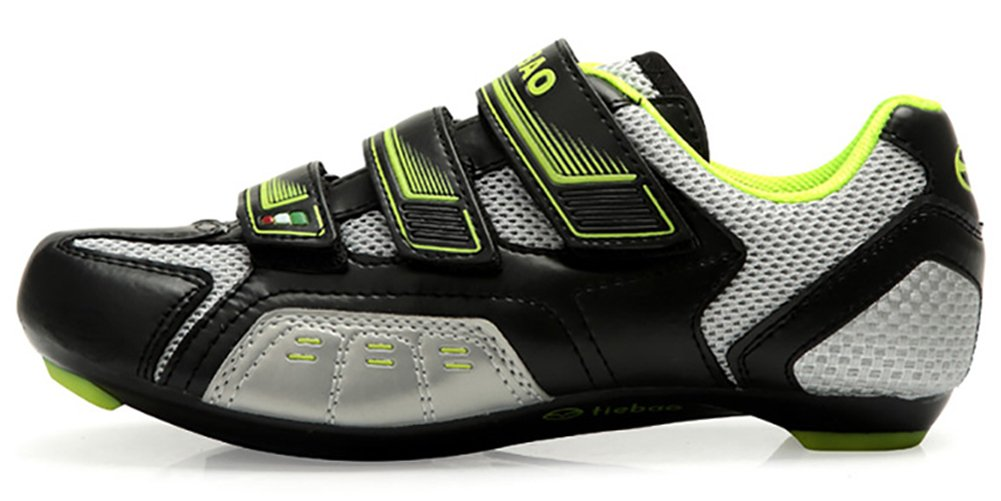 Tiebao Men Women Road Cycling Shoes Indoor and Outdoor Riding Bike Shoes Bicycle Shoes B072MSJ4GK 7.5 D(M) US|Black