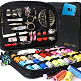 SEWING KIT Premium Repair Set - Complete Needle and Thread Kit for Sewing - Over 100 Supplies & 24-Color Threads - Sewing Kits for Adults for Quick Fixes, Basic Travel Sewing Kit for On the Go Repairs