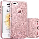 iPhone SE Case, iPhone 5S Case, ESR Makeup Series Bling Glitter Back Cover Protective Bumper ...