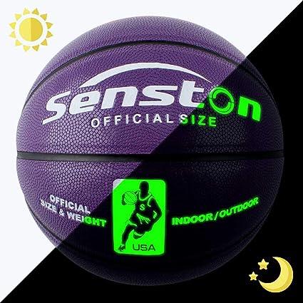 Senston Balon Baloncesto Niñas Fluorescente Balon de Baloncesto ...