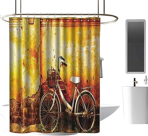 Dabuniu - Cortinas para mampara de Ducha, diseño de pájaros y Flores Volando en Bicicletas de una Sola Rueda, con Pedales de Felicidad y alegría: Amazon.es: Hogar