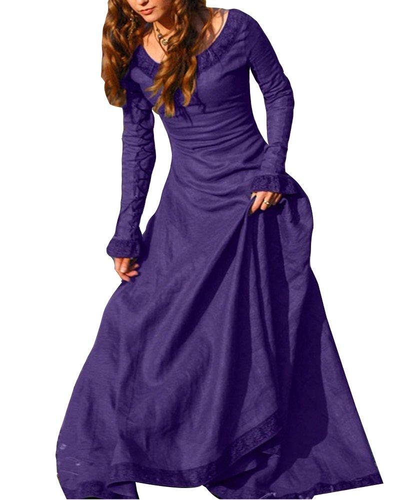 Disfraz De Medieval Para Mujer Vestido Gótico Vintage Vestido ...