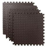 Bond Hardware - Black Interlocking Foam Mats Tiles Gym Play Garage Workshop Floor Mat