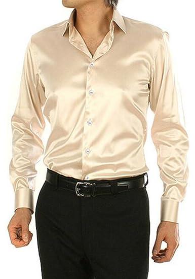 Dooxiundi Camisa De Vestir Para Baile De Graduación Color Sólido Para Hombre