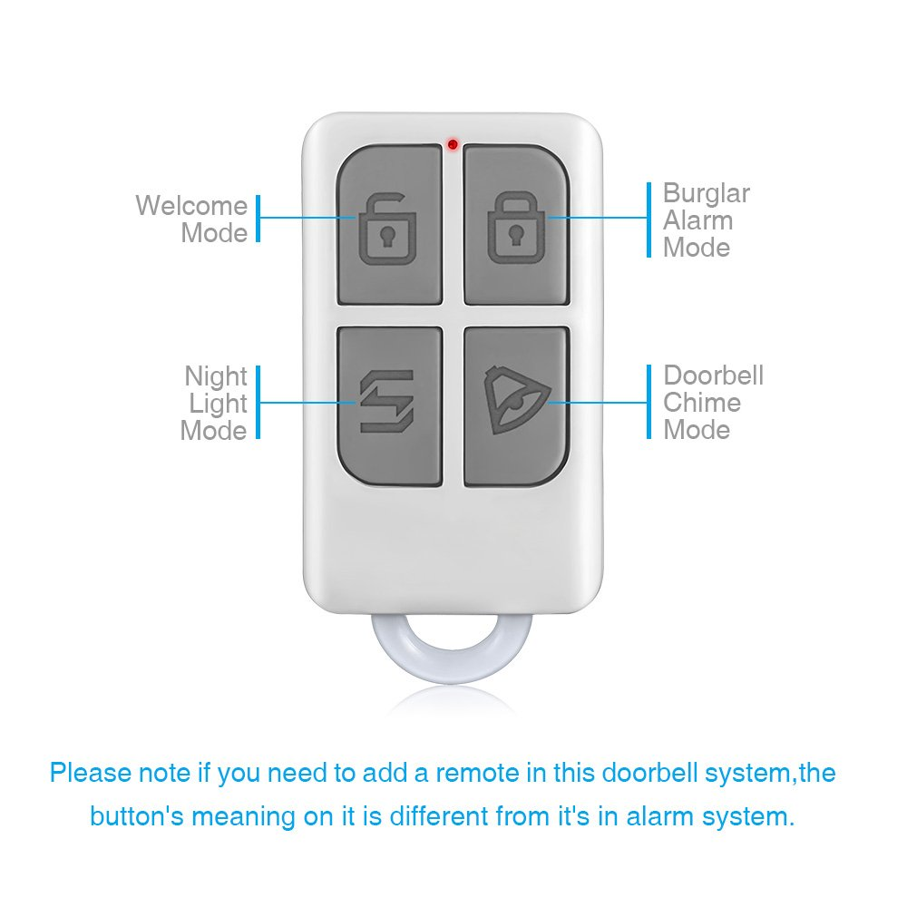 KERUI Wireless Split Welcome Motion Sensor Alert Alarm System Doorbell Door Bell with Long Range Receiver and Transmitter Home or Office Security Protection for Front Doors Entryways Garages by KERUI (Image #6)