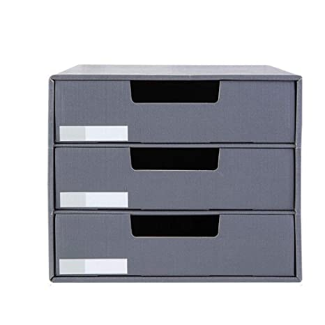 Papel kraft Caja de almacenamiento de archivos de escritorio ...