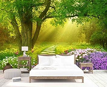 Leegt Nature 3d Peintures De Paysage Vert Forêt Chambre Minimaliste