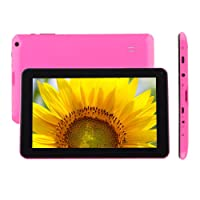 "9"" inch Android Tablet PC,High RAM Storage Phablet Tablet Quad Core Unlocked Cell Phone Tablets, Sim Card Slots, WiFi, GPS, Blue-Tooth 4.0, HD Screen Display, Google Play(Pink)"