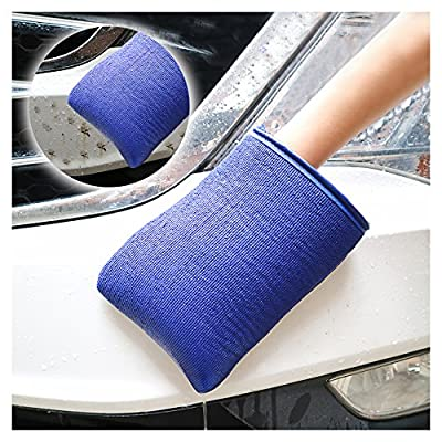 JIANFA Clay Bar Mitt, AutoScrub Fine Grade Wash Mitt Automotive Detailing Towel Wash Mitt Clay Bar Alternative, 1 Piece Blue: Automotive