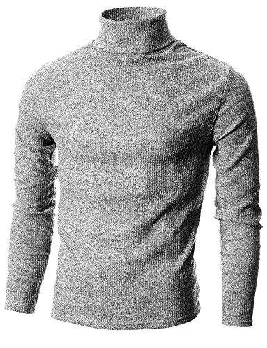 Ohoo Narrow Ribbed Turtleneck Pullover