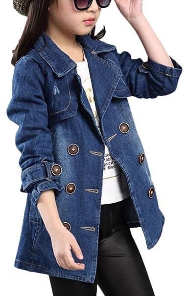 Brinny - Abrigo - para niña azul 11-12 Años-Altura -147 cm: Amazon.es: Ropa y accesorios