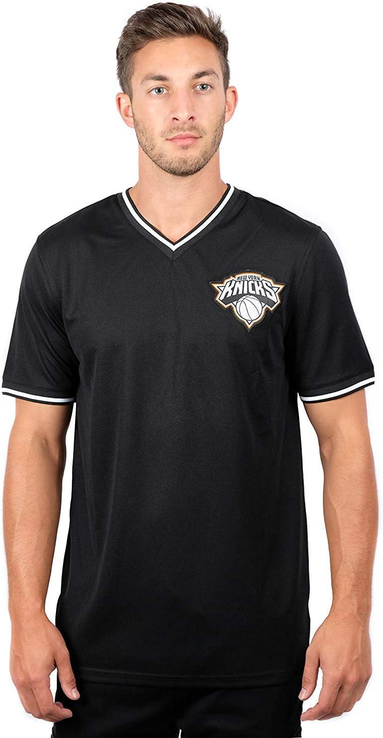 Ultra Game NBA Men's V-Neck Mesh Short Sleeve Tee Shirt
