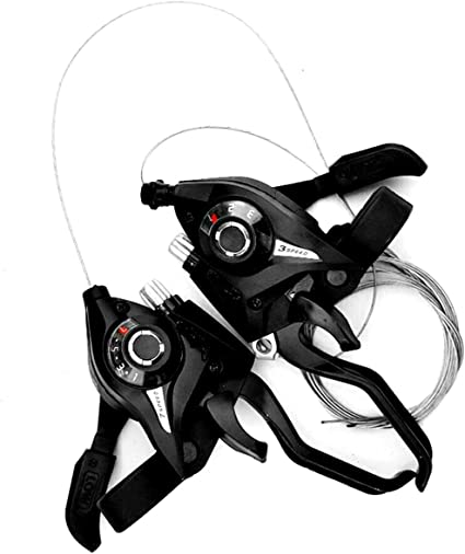 2 Pair Bike 21-Speed Shifter Brake Handle Grip Handlebar Shifting Universal Set