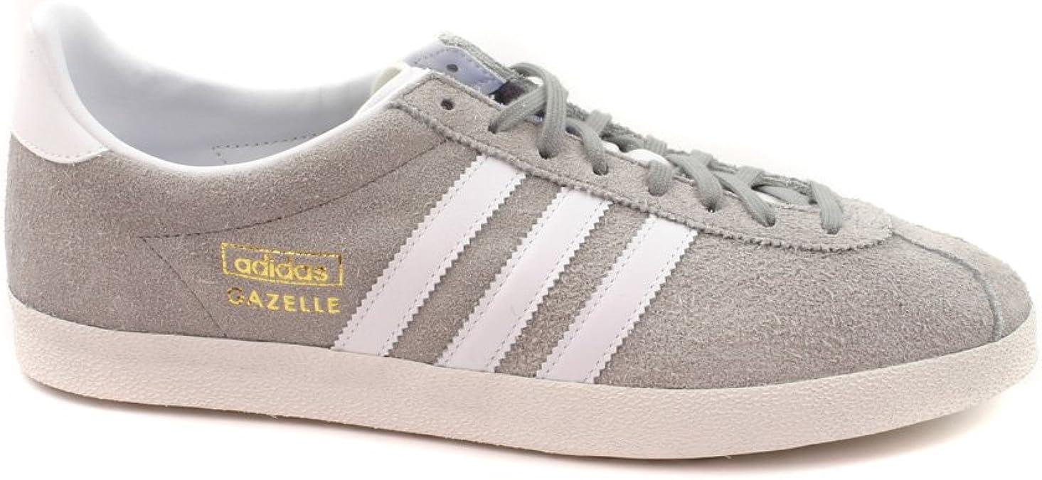 enlace Legítimo Dejar abajo  Amazon.com | adidas Gazelle OG Grey Suede Rare Retro Sneakers-Grey-8 | Shoes
