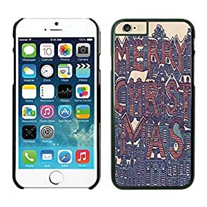 The Christmas Tree On Christmas Day Lovely Mobile Phone Protection Shell for iphone 6 Case-Unique Soft Edge Case(2015),Merry Christmas iPhone 6 Case 15 Black