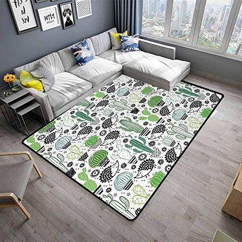 (Cactus,Floor Mats for Living Room 48