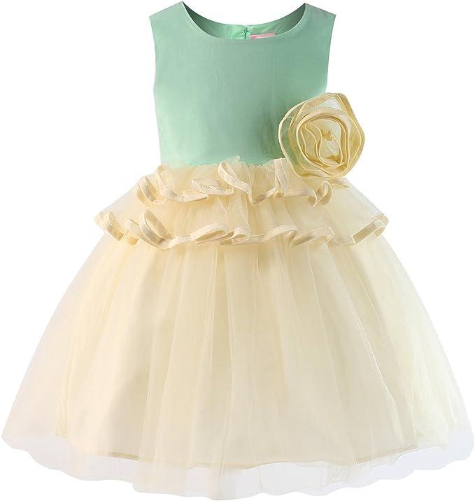 Amazon.com: Sharequeen - Vestido de princesa para niña ...