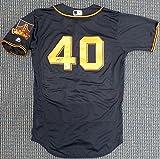 San Francisco Giants Madison Bumgarner Autographed Authentic Black Majestic Flex Base Jersey Size 40 Beckett BAS #C29618