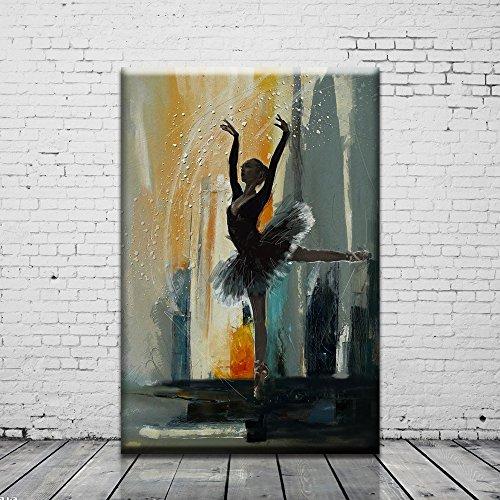 Artwork Print on the Canvas Ballet Oil - Oil Ballet Painting