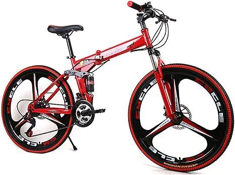 HAOHAOWU Bicicleta De Montaña Plegable, Bicicleta De Carretera De ...