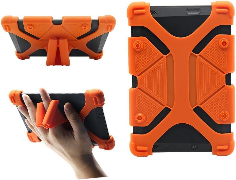 """CHINFAI Universal 8 inch Tablet Case, Silicone Protective Cover 7.9""""-9"""" for Galaxy Tab 4 A S2 E/F i r e HD 8 HDX/iPad Mini 1 2 3 4/ AT&T/Verizon/Alcatel/Lenovo 8"""" Tablet, Orange"""