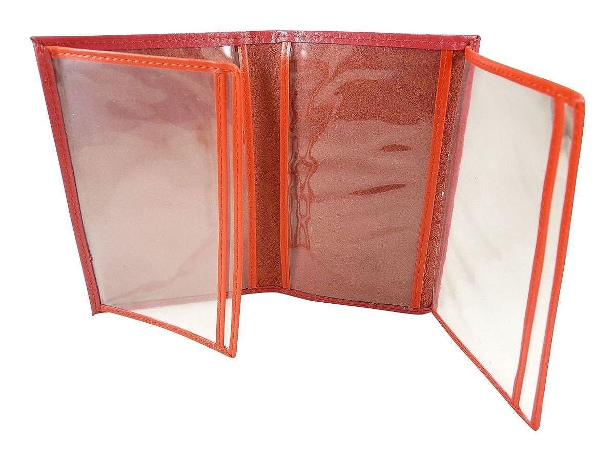 Etui de protection transparent, Porte cartee, permis, pochette papiers voiture cuir CHAUSSMARO