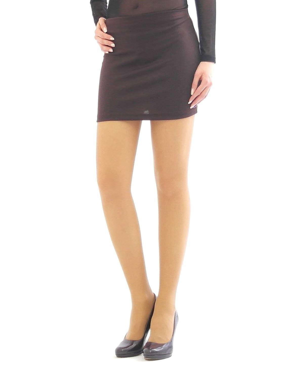Minifalda Falda Lápiz Mini Roca Ceñido Tramo Ocio Negocios marrón ...