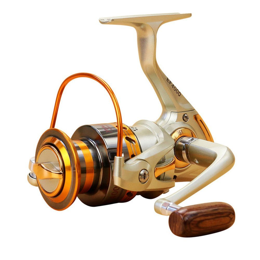 Goswot Left Right Interchangeable 12BB Ball Bearing Saltwater Freshwater Fishing Spinning Reel 500-9000 Series Light and Smooth