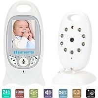 Monitor de bebé inalámbrico,Sebami Monitor de Bebé Inteligente con Pantalla LCD,Monitoreo de Temperatura y Cámara Visión Nocturna perfecta para bebes, mascotas, personas mayores