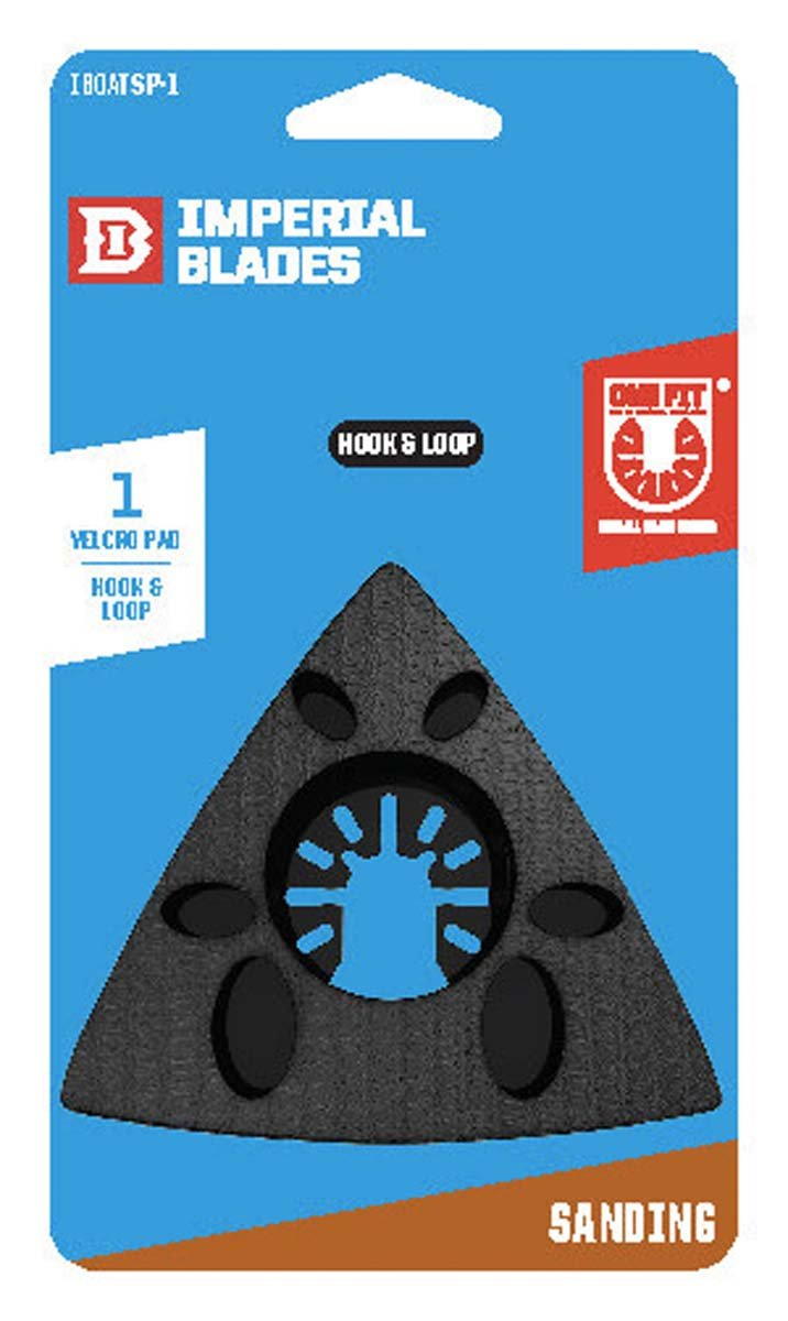 IMPERIAL BLADES IBOATSP-1 One Fit Sanding Pad For Oscillating Saw, 1PK