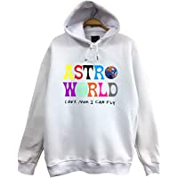 FameStoned-Travis Scott Astroworld Baskılı Kapüşonlu Sweatshirt