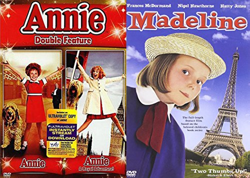 Musical Family Fun 3-Movie Set: Annie Double Feature (Annie / Annie: A Royal Adventure) & Madeline Bundle