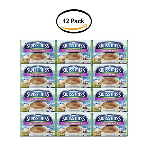 - PACK OF 12 - Swiss Miss Sensible Sweets No Sugar Added Hot Cocoa Mix Envelopes, 8-Count