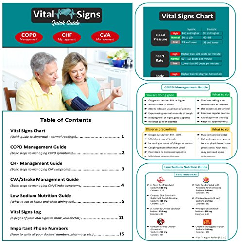 Blood Pressure Monitor + Infrared Thermometer + Fingertip Pulse Oximeter + Vital Signs Guide Book with COPD CHF CVA Management Charts and Nutrition Guide - Complete Home Health Kit in Gift Ready Box by Multi-Brand Bundle (Image #1)