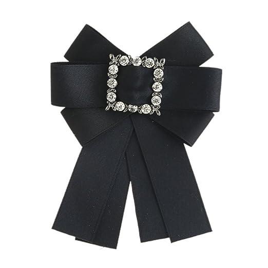 e7fb293235da2 ODCOLTD Rhinestone Crystal Brooches Pin Bow Tie Wedding Party Bow ...