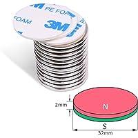 8 piezas imanes autoadhesivos de neodimio N50 disco