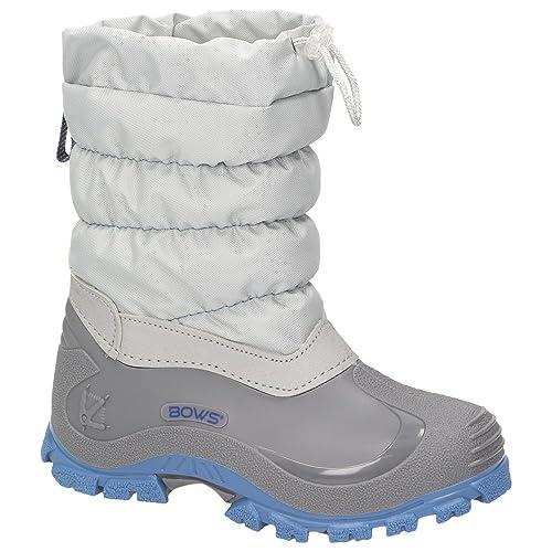 6470912137ca38 BOWS® -Leo- Mädchen Jungen Winter Stiefel Schnee Schuhe gefüttert Einhorn  Unisex Kinder Winterboots