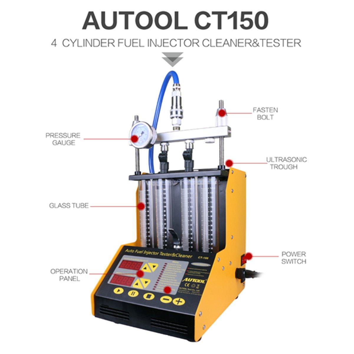 Autool CT150 Ultrasonic mini tester da auto per iniettore di carburante strumento pulente per iniettore di benzina tester e strumento pulente per iniettore