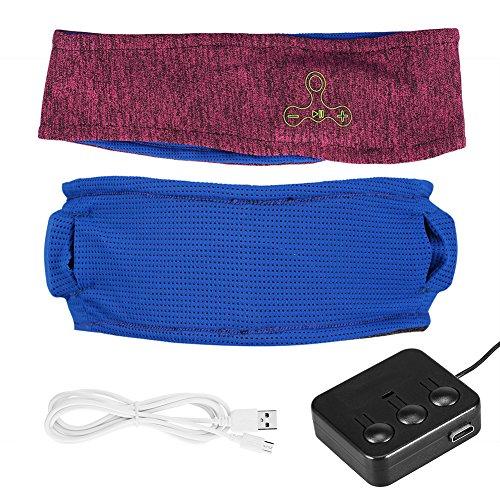 Fosa Wireless Music Bluetooth Headband Headphone Elastic Sweatband w/Mic for Sport Run Yoga for Gym Exercise Running Sleeping Red