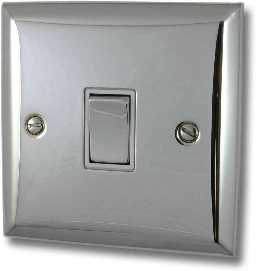 G H Sc201 Spectrum Plate Polished Chrome 1 Gang 1 Or 2 Way Rocker Light Switch Electrical Supplies Home Improvement